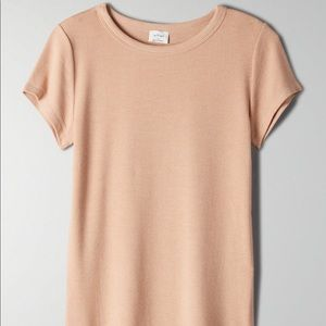 Aritzia Wilfred Desiree T-Shirt Beige